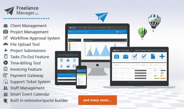 دانلود اسکریپت PHP مدیریت برای فری لنسرها Freelance Manager