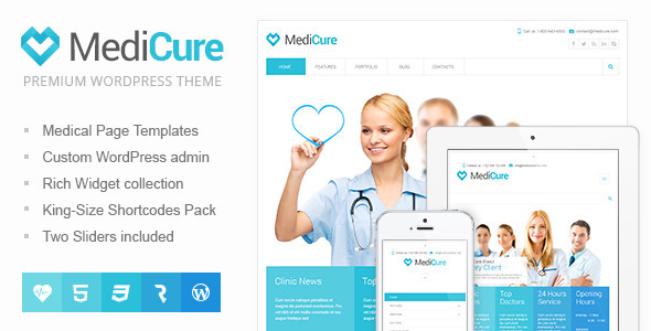 دانلود قالب وردپرس پزشکی MediCure