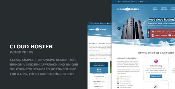 دانلود قالب وردپرس هاستینگ Cloud Hoster