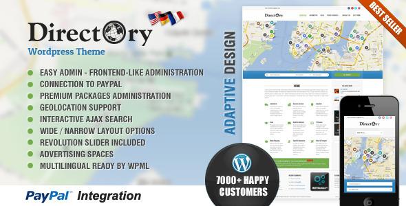 دانلود قالب دایرکتوری وردپرس Directory Portal