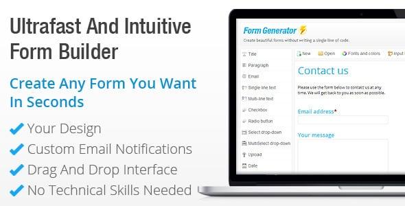 دانلود اسکریپت PHP ساخت فرم تماس Contact Form Generator