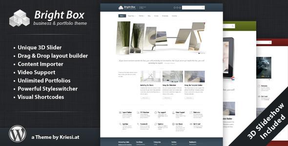 دانلود قالب شرکتی وردپرس BrightBox