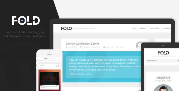 دانلود قالب وردپرس Fold