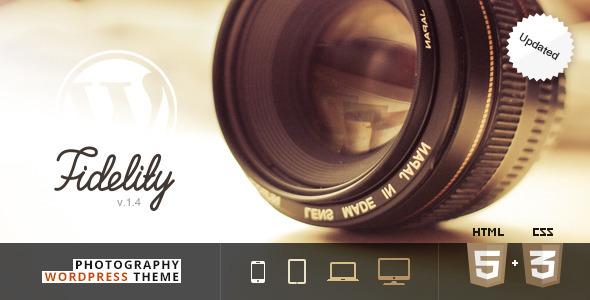 دانلود قالب وردپرس عکاسی Fidelity