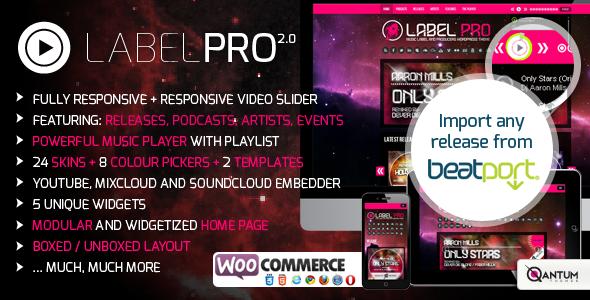 دانلود قالب وردپرس موزیک Music Label Pro