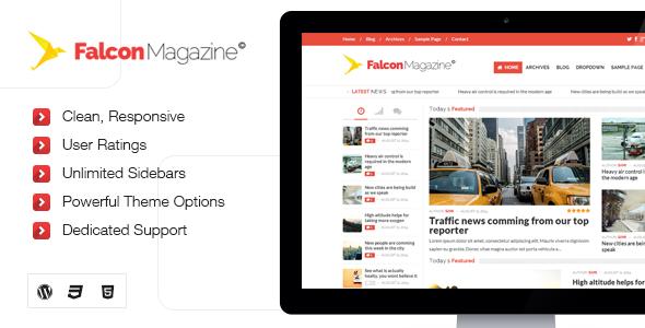 دانلود قالب وردپرس مجله Falcon