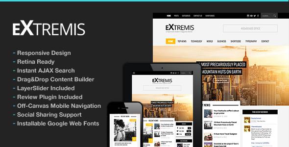 دانلود قالب وردپرس مجله Extremis