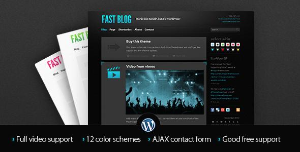 دانلود قالب وبلاگی وردپرس Fast Blog