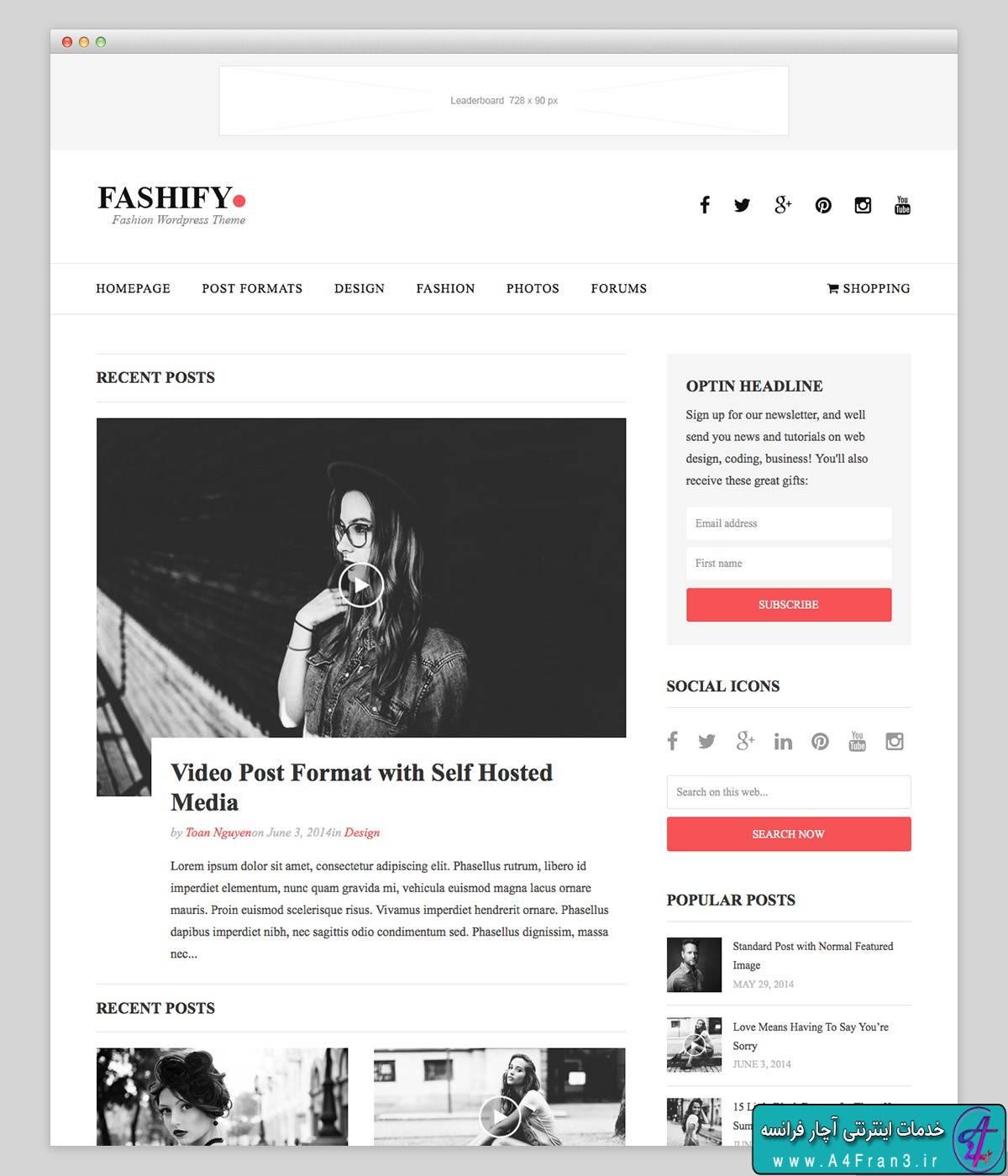 دانلود قالب وردپرس مجله Fashify
