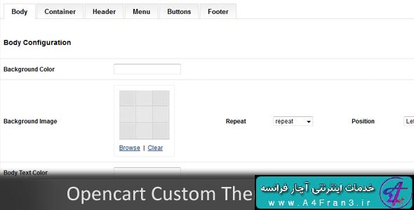 دانلود افزونه اپن کارت Custom Themes Panel Opencart Module