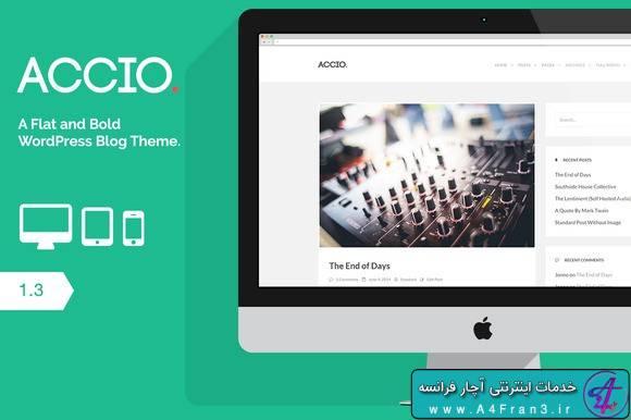 دانلود قالب وبلاگی وردپرس Accio