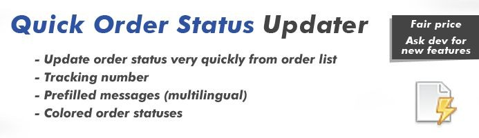 دانلود افزونه اپن کارت Quick Order Status Updater