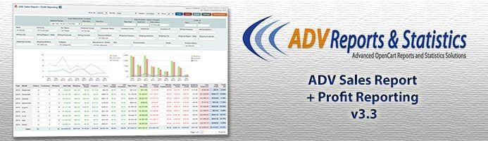 دانلود افزونه اپن کارت گزارش تبلیغ ADV Sales Report plus Profit Reporting