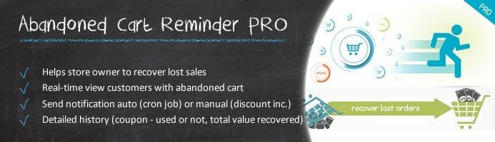 دانلود افزونه اپن کارت Abandoned Cart Reminder Pro