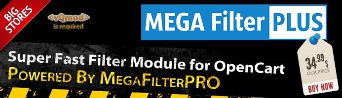 دانلود افزونه اپن کارت فیلتر پیشرفته Mega Filter PRO