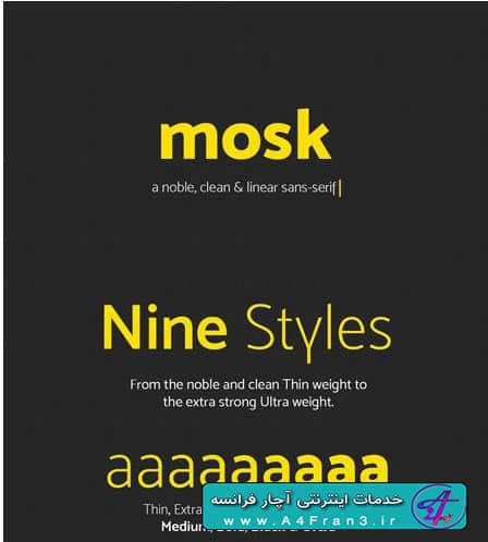 دانلود فونت لاتین Mosk Typeface TTF