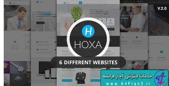 دانلود قالب چندمنظوره جوملا Hoxa