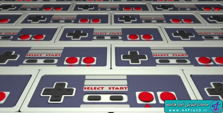 دانلود پروژه موشن گرافیک Retro Gamepad