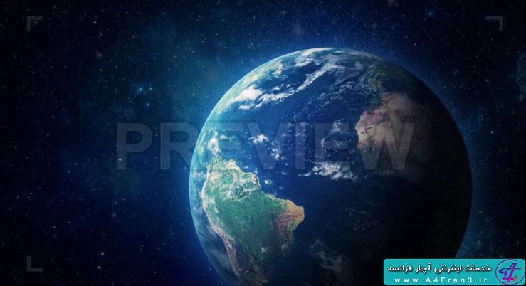 دانلود پروژه موشن گرافیک HyperRealistic Earth Zoom Out