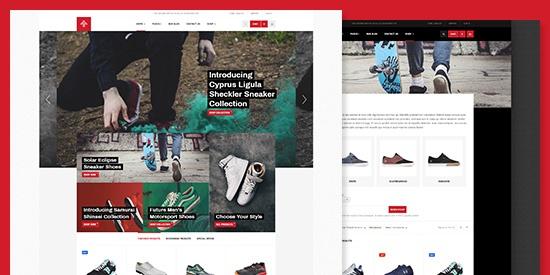 دانلود قالب فروشگاهی جوملا JA Shoe Store راست چین