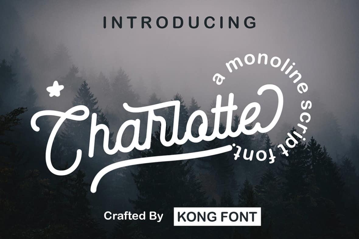 دانلود فونت لاتین Charlotte Font