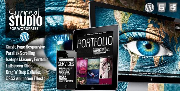 دانلود قالب تک صفحه ای و پارالاکس وردپرس Surreal
