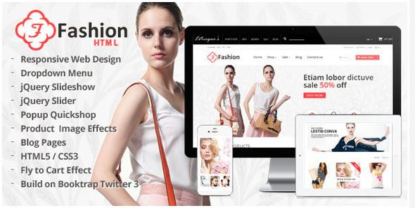 دانلود قالب HTML سایت Fashion