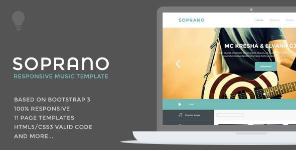 دانلود قالب HTML موزیک Soprano