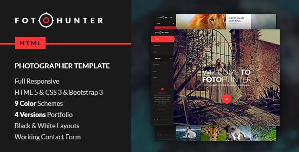 دانلود قالب HTML عکاسی FotoHunter
