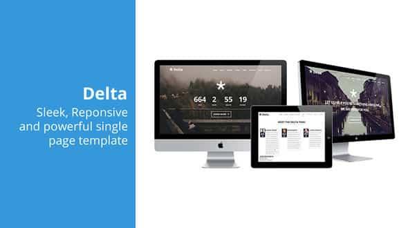 دانلود قالب HTML تک صفحه ای Delta