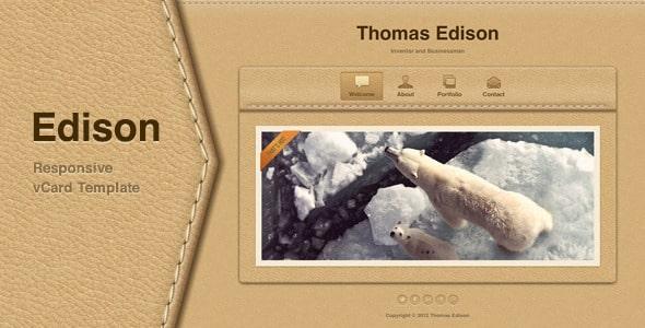 دانلود قالب HTML شخصی Edison