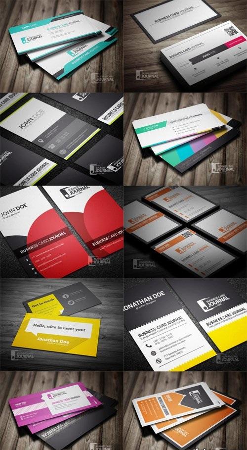 دانلود مجموعه 10 طرح لایه باز کارت ویزیت