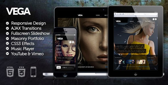دانلود قالب HTML سایت Vega