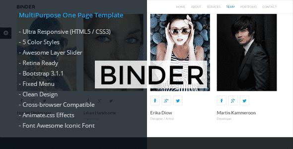 دانلود قالب HTML شرکتی Binder
