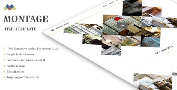 دانلود قالب HTML سایت Montage