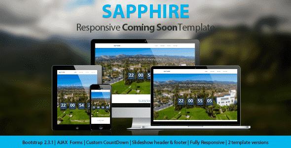 دانلود قالب در دست طراحی Sapphire