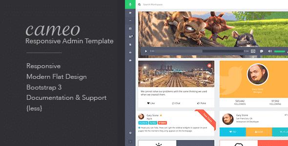 دانلود قالب HTML مدیریت Cameo