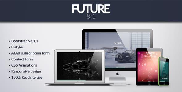 دانلود قالب HTML در دست طراحی Future