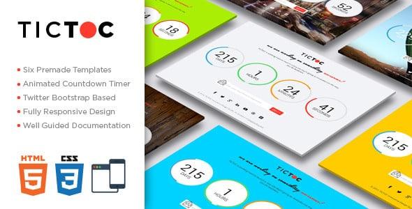 دانلود قالب HTML در دست طراحی TICTOC