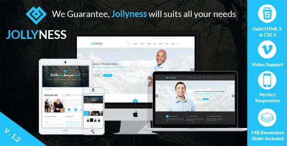 دانلود قالب HTML چندمنظوره Jollyness