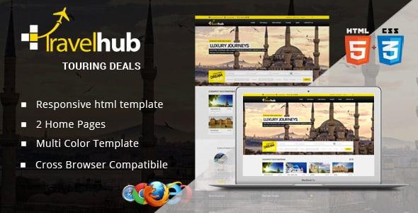 دانلود قالب HTML سایت Travel Hub