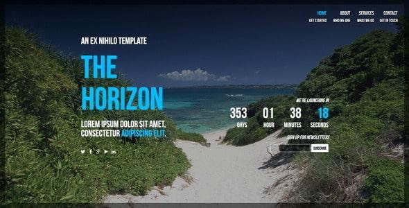 دانلود قالب HTML در دست طراحی The Horizon