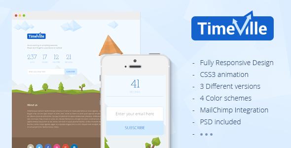 دانلود قالب HTML در دست طراحی TimeVille