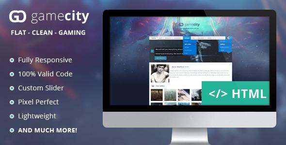 دانلود قالب HTML بازی GameCIty