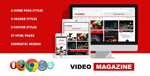 دانلود قالب HTML سایت Video Magazine
