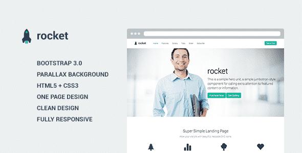 دانلود قالب HTML سایت Rocket