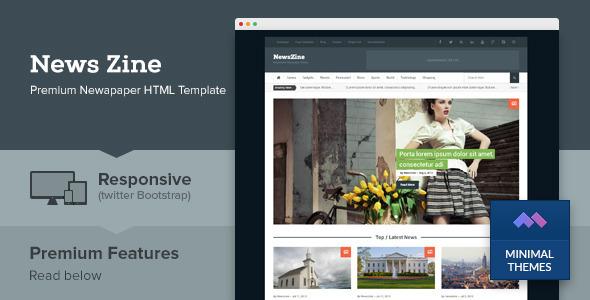 دانلود قالب HTML خبری NewsZine
