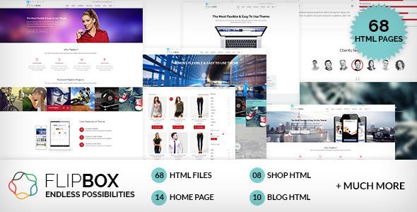 دانلود قالب HTML سایت FlipBox