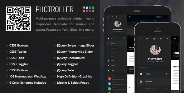 دانلود قالب HTML سایت Photroller