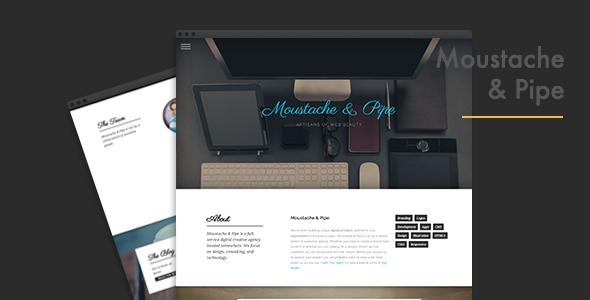 دانلود قالب HTML سایت Moustache & Pipe